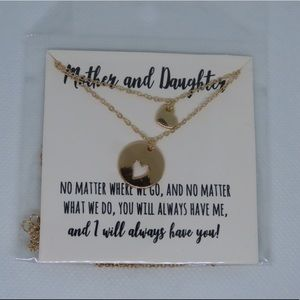 Gold Mother/Daughter Necklace Set